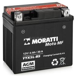 Moratti 12V 4 А/ч с/зар.с/эл.(YTX5L-BS) 900р.