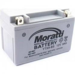 Moratti  12V 9 А/ч nano gel (YTX9-BS)1500р.