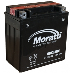 Moratti  12V14 А/ч с/зар.с/эл.(YTX16-BS-1) 1900р.