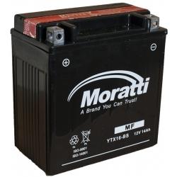 Moratti  12V14 А/ч с/зар.с/эл.(YTX16-BS)1900р.