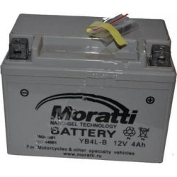 Moratti 12V 4 А/ч NANO GEL (YB4L-B) (MPRO124L)