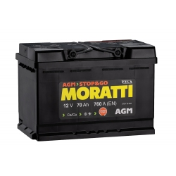 АКБ Moratti AGM 70 Ah Обратная полярность
