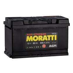 АКБ Moratti AGM 80 Ah Обратная полярность